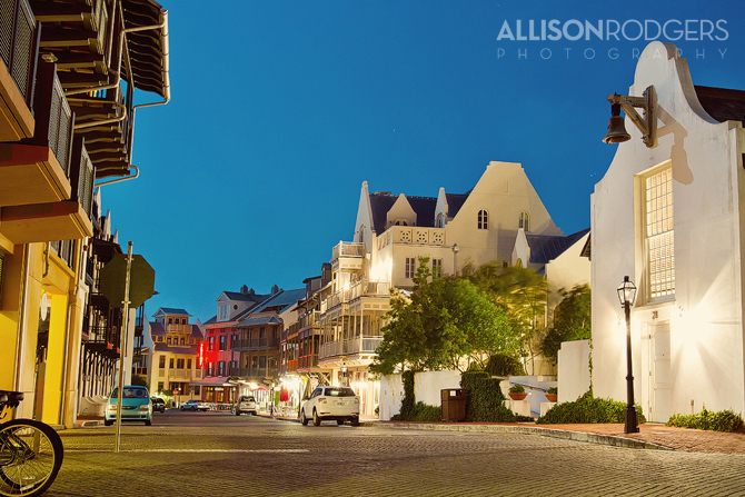 Allison Rodgers Photography at Rosemary Beach, night shots.